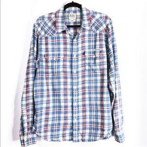 Lucky Brand Men's Large Distinctive Western Shirt